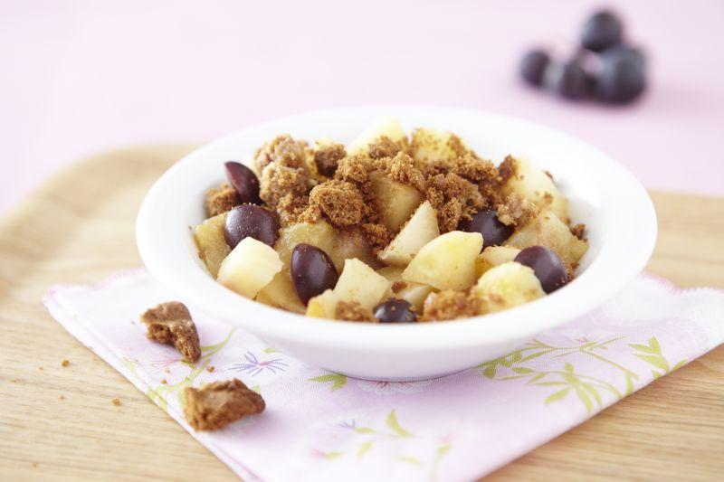 Crumble de pommes Ariane à la cannelle et aux raisins