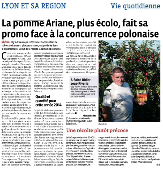 10 ans Ariane article le progrès