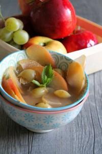 soupe pomme et raisin