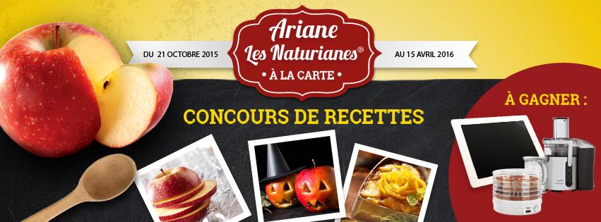 Ariane a proposé un superbe concours de recettes sur sa page Facebook !