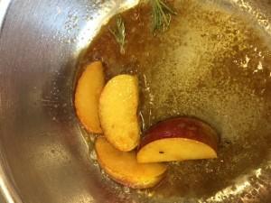 étapes recettes pomme et foie gras