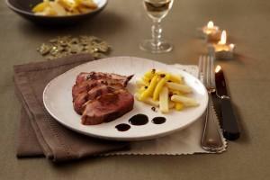 magret canard_repas de fete_ pomme ariane