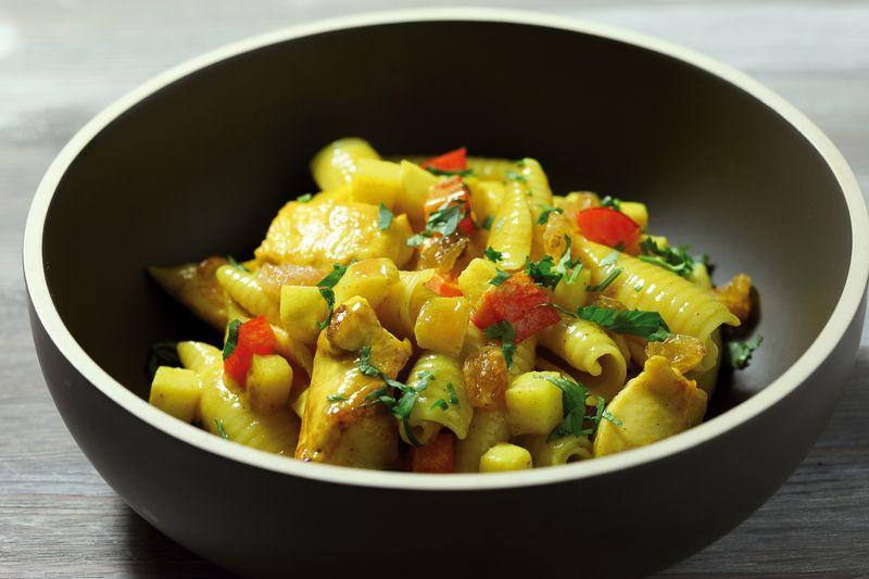 Castellane au curry de volaille et pomme Ariane