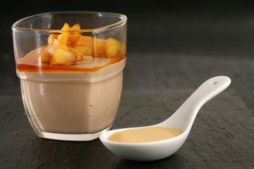 Mousse au chocolat au lait et pommes Ariane