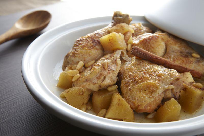 Cocotte de poulet miel et pommes Ariane
