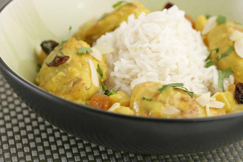 Curry de volaille pomme Ariane raisin