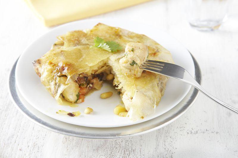Pastilla de volaille à la pomme Ariane et citron confit