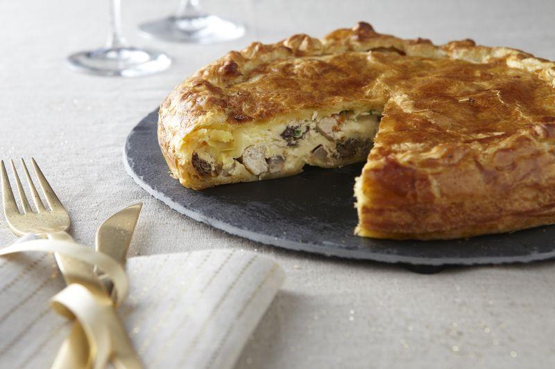 Tourte pomme Ariane foie gras et volaille