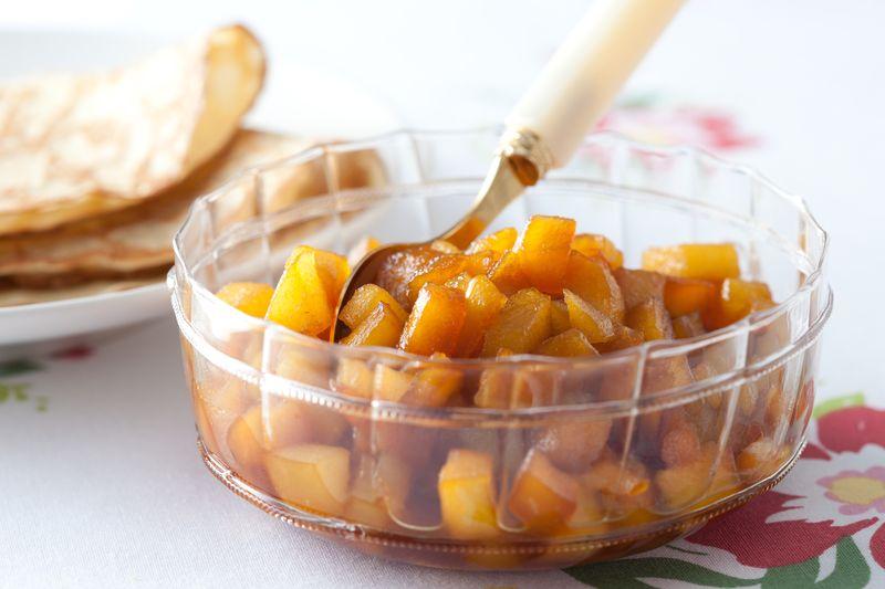 Duo de pommes et poires au caramel