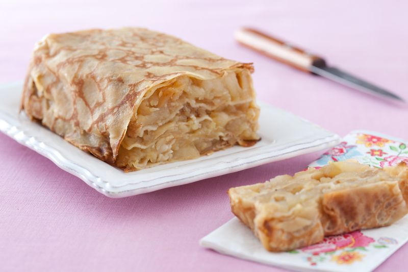 Gâteau de crêpes aux pommes Ariane