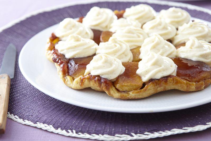 Tatin de pommes Ariane, crème Chiboust