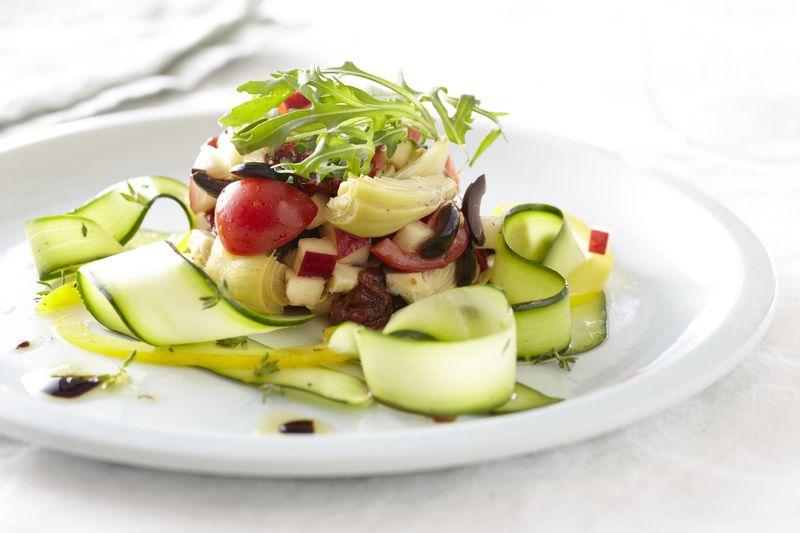 Salade de légumes et pomme Ariane