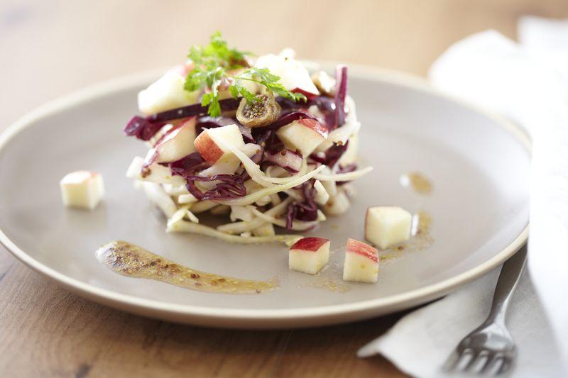 Salade de choux cru et Pomme Ariane