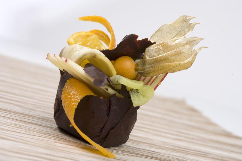 Coques de chocolat aux fruits de décembre