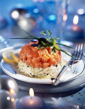 Tartare de saumon remoulade truffée aux pommes Ariane