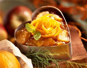 Chaud froid de pomme Ariane à l'orange