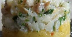 Bacalhau Effilochée sur sa Compotée de Pommes au Curry…