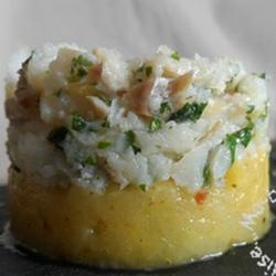 Bacalhau Effilochée sur sa Compotée de Pommes au Curry...
