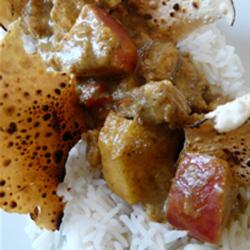 Curry de poulet aux pommes Ariane