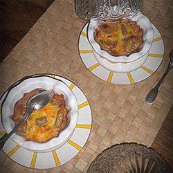 Gratin de gnocchis de pommes au calvados