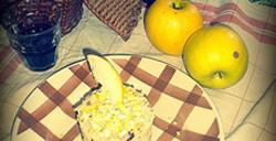 « Salade de riz » pressée à la pomme
