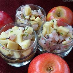 Tartare d'espadon à la pomme