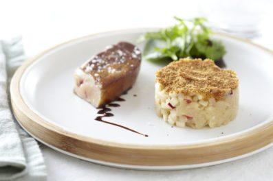 Fois gras poêlé aux pommes