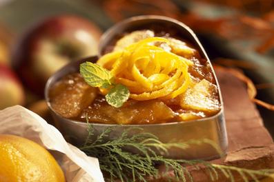 Chaud-Froid aux pommes Ariane et à l'orange