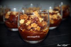pommes caramélisées façon tatin en verrine