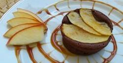 Petits gâteaux moelleux chocolat pomme