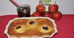 Gâteau aux pommes cachées