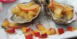 Ariane à la plage et ses huîtres fines de claire