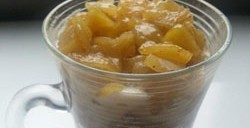 Pommes caramel au fromage blanc