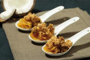 Crumble noix de coco et pomme Ariane