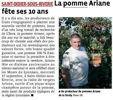 10 ans Ariane saint didier sous riverie