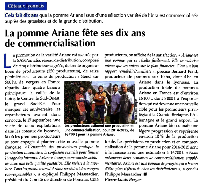 FLD hebdo 24.09 pomme Ariane