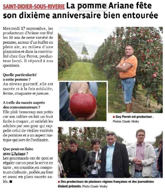 la pomme Ariane 10 ans