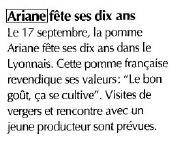 10 ans Ariane retombées FLD