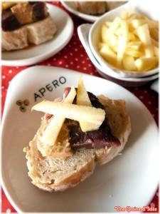 Amuse bouche magret foie gras pommes