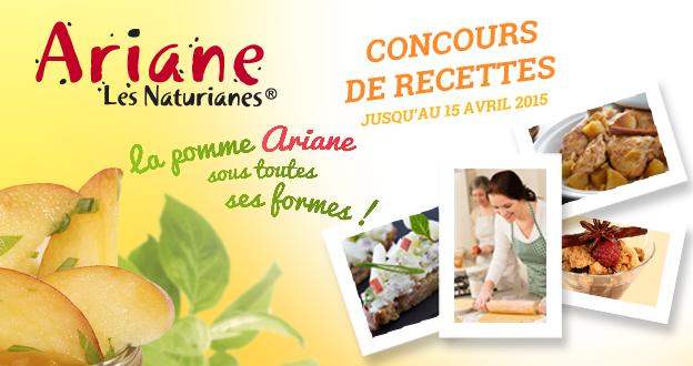 Concours de recettes - La pomme Ariane sous toutes ses formes !