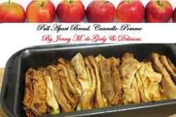 Pull Apart Bread ou pain à effeuiller pomme-cannelle