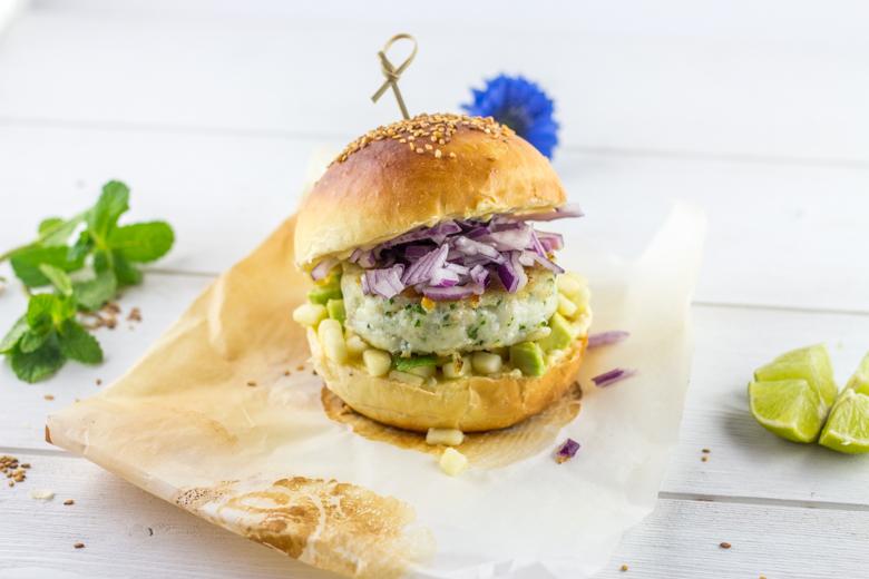 Hamburger de la mer pomme