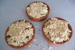 Crumble pomme et chocolat