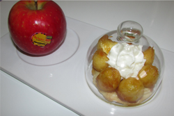 Tartelettes aux pommes caramélisées et chantilly