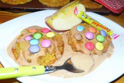 Petits moelleux aux pommes et crème au Carambar