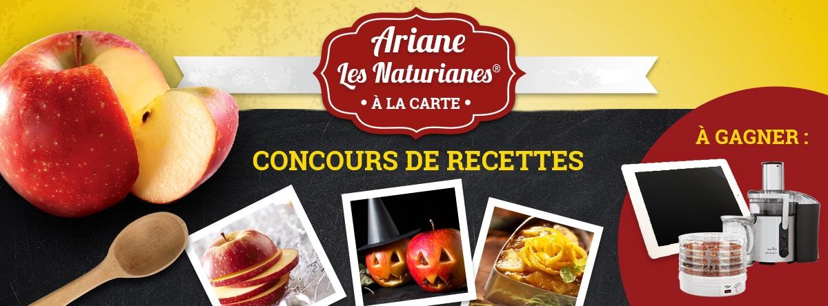bandeau concours recettes Ariane