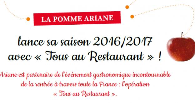 Ariane, partenaire de Tous au Restaurant !